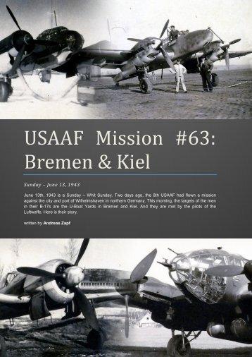 USAAF Mission #63: Bremen & Kiel - First Light
