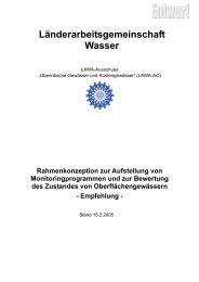 Rahmenkonzeption Monitoring Oberflächengewässer der LAWA