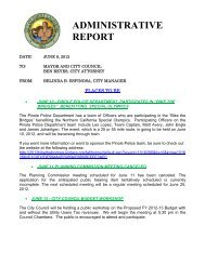 ADMINISTRATIVE REPORT - City of Pinole