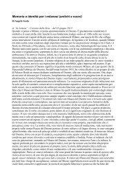 Memoria e identità per i milanesi (antichi e nuovi) - Incontri di