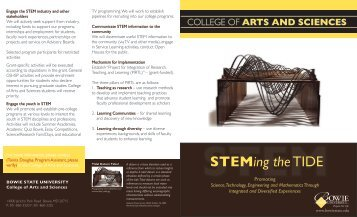 STEMing the TIDE - Bowie State University Department of Computer ...