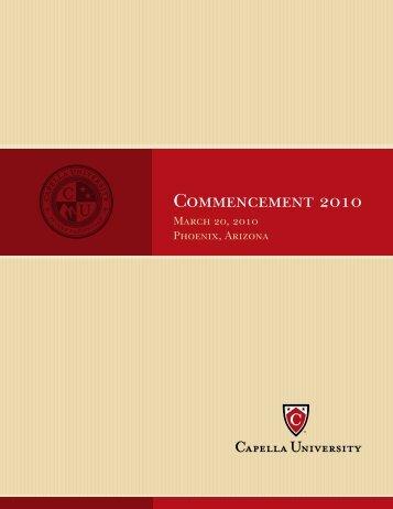 Commencement 2010 - Capella University
