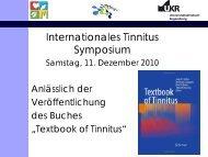 Internationales Tinnitus Symposium - Tinnituszentrum Regensburg