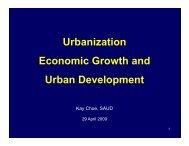 Urbanization Urbanization Economic Growth and Economic Growth ...