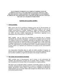 avant-projet d'ordonnance portant modification de l ... - BECI