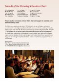 Programme - Beverley Chamber Choir - Page 7