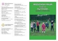 ...fånga livet ! Kyrkbladet MISSIONSKYRKAN - Svenska ...