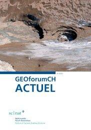 GEOforumCH ACTUEL - SCNAT