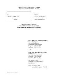 UNITED STATES BANKRUPTCY COURT - Advanta Corp