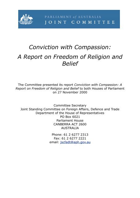 A Report on Freedom of Religion and Belief - AIS