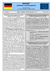 Report Nummer 13 - Ausländerrecht für die Polizei