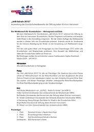 """""""JeKi-Schule 2012"""" - Jedem Kind ein Instrument"""