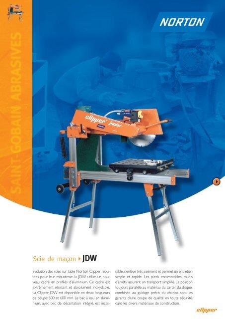 Scie de maçon JDW - Norton Construction Products