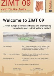Welcome to ZIMT 09 ...when Europe's female architects and ...