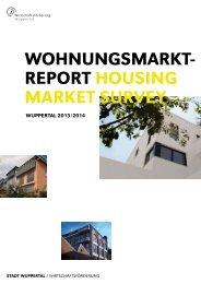 Wohnungsmarktreport - Wirtschaftsförderung Wuppertal