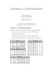 Datenbanken I, Uebungsblatt 7 - Goethe-Universität