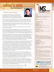 IMS Magazine Layout - TMC's Digital Magazine Issues