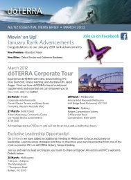 dōTERRA Corporate Tour - dōTERRA - Essential Oils