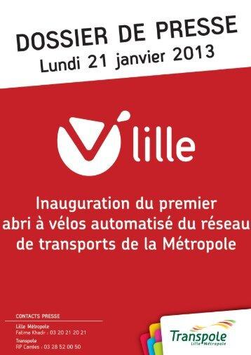 Dossier de Presse Abri à Vélo Haubourdin - Transpole