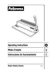 PB200 Manual - Fellowes