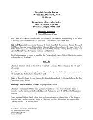 October 2010 Special Called Board Meeting Minutes - Georgia ...