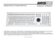 Edelstahl-Tastatur mit Trackball KSM-105-TS - WES EBERT ...
