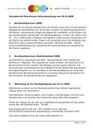 Jahresbericht 2008/09 - Oberstufe Elsau-Schlatt