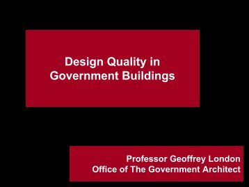 Design Quality in Government Buildings - Department of Finance