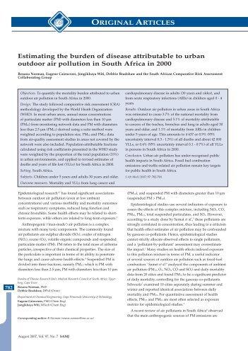 Estimating the burden of disease attributable to ... - SA HealthInfo