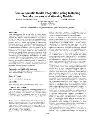 Semi-Automatic Model Integration using ... - Schema Evolution