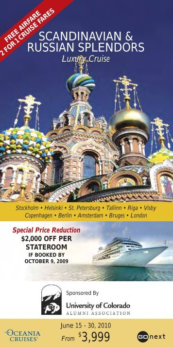 Cruise Program Includes - CU-Boulder Alumni Association