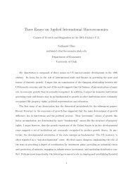 Three Essays on Applied International Macroeconomics: Causes of ...
