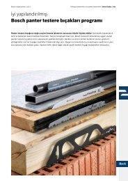 İyi yapılandırılmış: Bosch panter testere bıçakları programı
