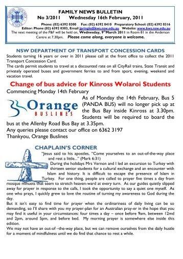T1 Wk3 - Kinross Wolaroi School
