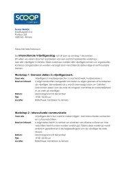 Workshop 1: Grenzen stellen in vrijwilligerswerk ... - De Klup