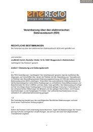 Vereinbarung über den elektronischen Datenaustausch - Eneregio