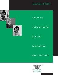 2003/2004 Annual Report - GTA Rehabilitation Network