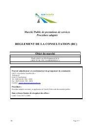 Règlement de la Consultation - Eurodistrict SaarMoselle