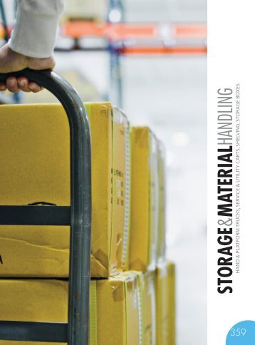 STORAGE & MATERIAL HANDLING Catalog 2015, pages 358-367
