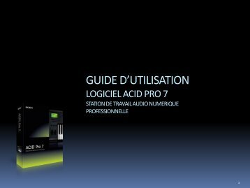 ACID PRO BRAND TOOLS – 2008 - Sony Creative Software
