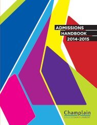 to view our 2013-2014 Admissions Handbook. - Champlain College ...