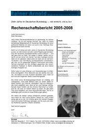 Meine Arbeit als Abgeordneter in den Jahren 2005 ... - Rainer Arnold