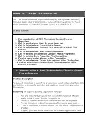 Opportunities Bulletins # 108 May - The Royal Film Commission ...