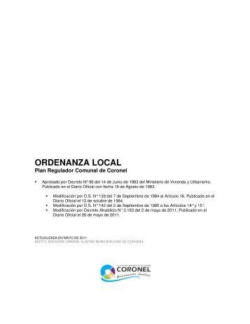 actualizada año 2011 - Ilustre Municipalidad de Coronel