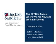 The CFPB in Focus: Where We Are Now and What Lies Ahead