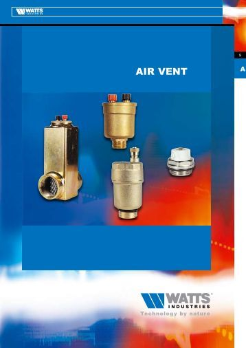 Ae and a automatic air eliminators vents