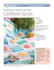 Caribbean Sunset - McCalls Quilting