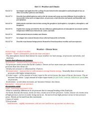 11 Weather-Climate notes - SchoolNotes