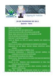 29 DE FEVEREIRO DE 2012 Quarta - feira - Sindimetal/PR