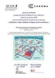 Version pdf du programme provisoire - Collège romand de ...